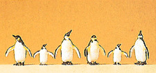 HO 1:87 scale Preiser 20398 Six PENGUINS / PENGUIN FIGURES