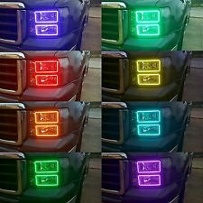 07 - 13 GMC SIERRA Multi-Color Changing Shift LED RGB Headlight Halo Ring Set
