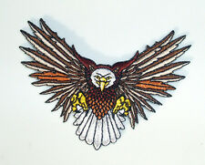ATTACKING EAGLE w/WINGS SPREAD WIDE EMBROIDERED PATCH  -  IRON OR SEW ON