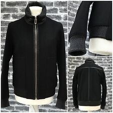 Rare&Great Dior Homme AW10 Wool Bomber Jacket Lambskin Sheep Collar+Leather Trim