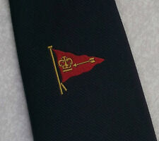 FLAG PENNANT CROWN & ARROW TIE VINTAGE RETRO MOTIF EMBLEM CREST 1980s 1990s