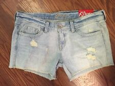 """NWT GUESS """"RELAXED SHORT"""" DESTROY DENIM JEAN SHORTS SIZE 30"""