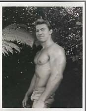 bodybuilder young LARRY SCOTT Bodybuilding Muscle Photo B&W 1960s