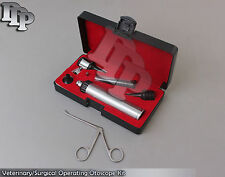 BRAND NEW!! ** LED LENSE Veterinary/Surgical Operating Otoscope Kit