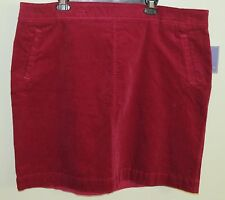 Laura Scott Corduroy Straight Skirt Beet Red Plus Size 3X NWOT