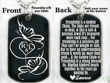 BEST FRIENDS/FRIENDSHIP Dog tag Necklace/Keychain   FREE ENGRAVING