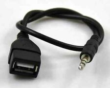 3.5mm Jack AUX Audio Plug To USB 2.0 Female Converter Cable Lead Cable