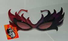 SteamPunk Cosplay Feather Mask Red Lenses Costume Glasses, NEW UNUSED