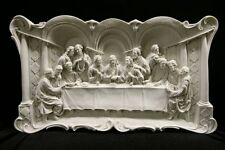 X-Large The Last Supper Jesus Wall Plate Plaque Catholic Statue Vittoria Italy