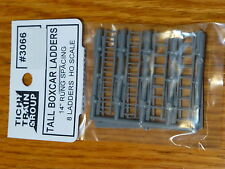 "Tichy Train Group #3066 Freight Car Ladders pkg(8) -- Boxcar-Style (14"" Spacing)"