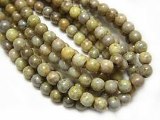 5mm Mixed Stone Picasso Czech Glass Round Druk Beads (40) #5181