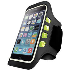 Flashing LED Sports Jogging Running Gym Armband iPhone 6/6S Cover Black