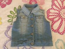 Baby Gap Toddler Girl Half Jean Jacket Vest size 5T