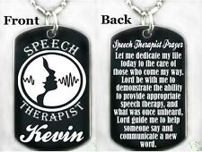 SPEECH THERAPIST PRAYER-Dogtag Necklace/Key chain + FREE ENGRAVING