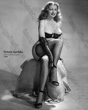 Gorgeous Photograph Burlesque Beauty VICTORIA SPARKLES Sexy Risque 1950s Dancer
