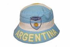 ARGENTINA COUNTRY FLAG BUCKET HAT .. ADULT SIZE : 7 3/8 .. NEW