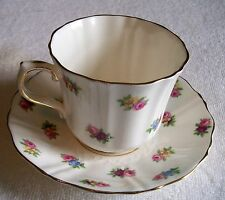OLD ROYAL BONE  CHINA TEA CUP AND SAUCER SET  FROM ENGLAND , HAS ROSES DESIGN