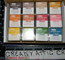 STAMPIN UP CRAFT EARTH ELEMENTS 12 INK SPOTS RETIRED COLORS