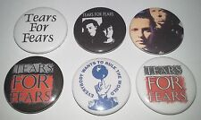 6 Tears for Fears Badges 25mm punk UK New Wave Mad World Everybody wants to