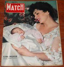 PARIS MATCH #435 1957 Gina Lollobrigida Harry Belafonte magazine Coco Chanel mag