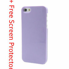 PURPLE Ultra Thin Hard Plastic Back Case Cover For Apple iPhone 5 5G 5S SE