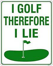 Ich Golf Daher Liege Ich Aluminium-Wandschild (ss)