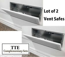 Lot of 2 QuickSafe Quick Safe Vent With 4 RFIDs Hidden Wall Safe Compartment