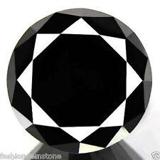 2.43ct WOW HUGE RARE NATURAL 100% JET BLACK DIAMOND CERTIFIABLE REAL DIAMOND~NR!