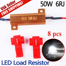 8 PCS 50W 6RJ LED Resistors For Turn Signal Blinkers/Fog Lights Fix Hyper Flash