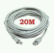 EXTRA LONG / 20M CAT5e RJ45 ETHERNET LAN NETWORK PATCH LEAD CABLE. HIGH QUALITY
