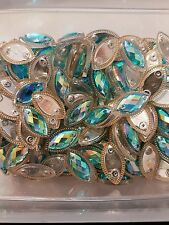 Turquoise AB Sew On Stitch Bead JEWEL GEM CRYSTAL RHINESTONE Bead Crystal DANCE