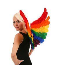 Feathered Rainbow Wings Feather Angel Fairy Sexy Bird Adult Halloween Costume