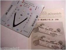 RENAULT RE 20 F1 1980 ARNOUX 1/43 DECAL FDS AUTOMODELLI