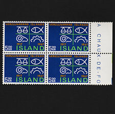 1967 Iceland Sc#392 Margin Block of 4 Mint Hinged VF