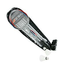 GRAYS 4 Player Badminton Combo Set: 4 Racquets, Bag, Net, Poles & Shuttlecocks!