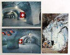 Schweiz Postkarten Lot 3x Jungfraujoch Eispalast Grindelwald-Gletcher Glacier