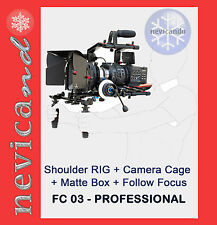 Filmcity FC-03 Camera Cage Rig Shoulder Follow Focus Matte Box_Steadycam Flycam
