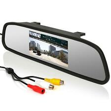 "4.3"" TFT LCD Color Monitor Car Reverse Rear View Mirror for Backup Camera#C"