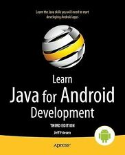 Learn Java for Android Development by Jeff Friesen (2014, Paperback, New...
