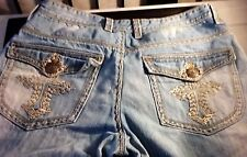 Men Do Denim  Frontal Patches & Flap Embroidery Pockets Stoned Washed Jeans
