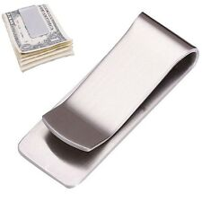 Silver Slim Money Clip Credit Card Holder Wallet New Stainless Steel
