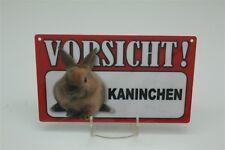 ATTENZIONE CONIGLIO Targa avviso animali Cartello pericolo 20x12 cm 59
