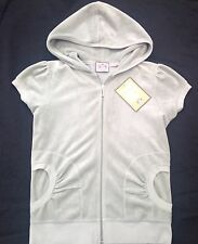 NWT Juicy Couture New Genuine Ladies Small UK 8/10  Pale Sage Green Velour Hoody
