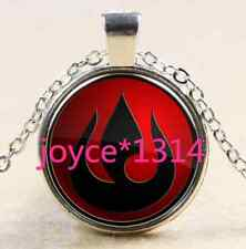 Avatar the Last Airbender Fire Nation Glass Dome Pendant silver Necklace #1673