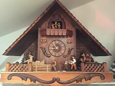 Original German Black Forest Cuckoo Clock 8 day/music/visible movement EUC