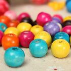 100Pcs 12mm Mixed Color Wooden Round Beads For DIY Jewelry Findings Making Craft