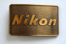 VINTAGE NIKON  BELT BUCKLE COLLECTABLE SOLID BRASS