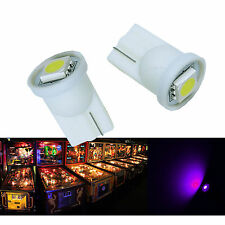 50x#555 T10 1 SMD 5050 LED Pinball Machine Light Bulb Purple (Pink) AC/ DC 6.3V