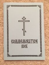 Eastern Orthodoxy Commemoration Book - Altar Liturgy - Priest - First 40 Days