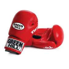 Greenhill Cow Hide Leather Boxing Gloves Tiger Velcro Closing Perfect Fitting